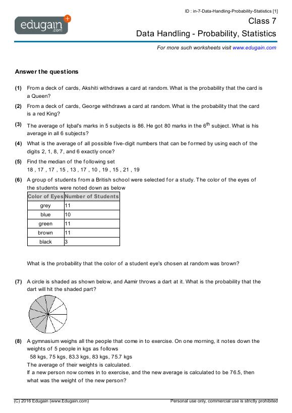 Data-Handling-Probability-Statistics